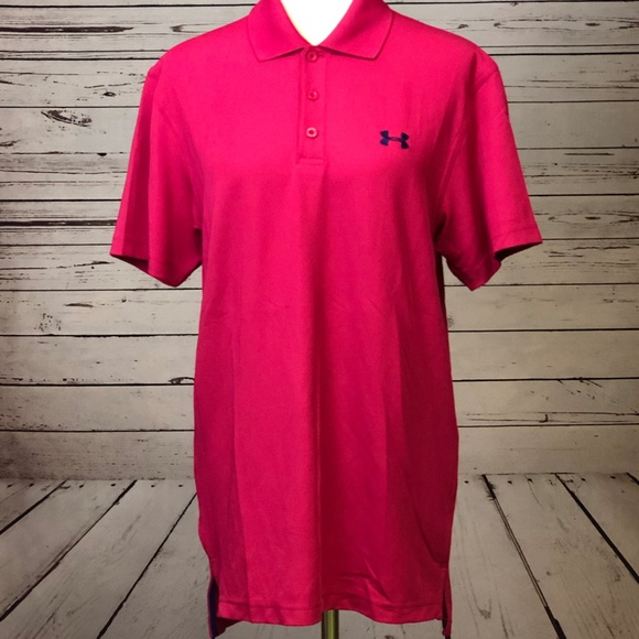 Under Armour Other - Under Armour Small Loose HeatGear Pink Polo Shirt